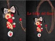 Le follie del fimo - Collana con dolcetti handmade in fimo