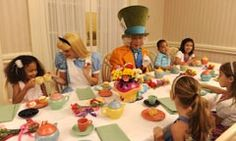 Meet Alice in Wonderland, Cinderella and other Wonderland friends while you dine. American cuisine selections furnish the buffet. The atmosphere is festive; the décor, whimsical.