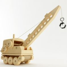 High poly model of a Toy Crane. Comes complete with wood texture maps, procedural materials and an HDRI map. Woodworking For Kids, Woodworking Toys, Dremel, Toy Crane, Best Toddler Gifts, Lego, Hobby Toys, Wooden Car, Building For Kids