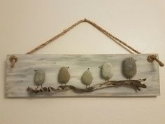 Stone Birds – All For Garden Pebble Stone, Pebble Art, Stone Art, Sea Glass Crafts, Sea Glass Art, Bible School Crafts, Pebble Pictures, Rock And Pebbles, Driftwood Crafts