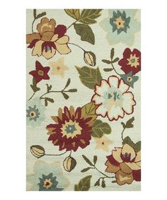 This Olive & Ivory Summerton Rug is perfect! #zulilyfinds