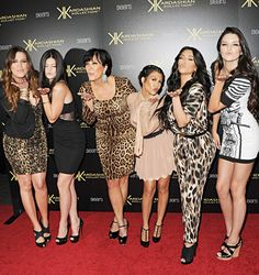 Khloe Kardasian, Kylie Jenner, Kris Jenner, Kourtney Kardashian, Kim Kardashian, and Kendall Jenner attend the Kardashian Kollection Launch Party at The Colony on August 17, 2011 in Hollywood, California.