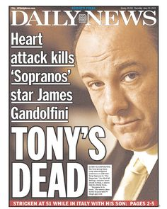 """TONY'S DEAD"" on the Daily News"
