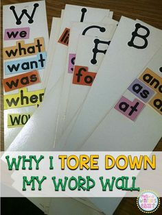 Why I Tore Down My Word Wall  (and a FREEBIE)