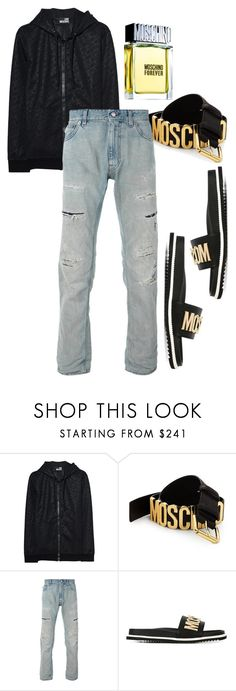"""""""Untitled #324"""" by jez-alex ❤ liked on Polyvore featuring Love Moschino, Moschino, men's fashion and menswear"""