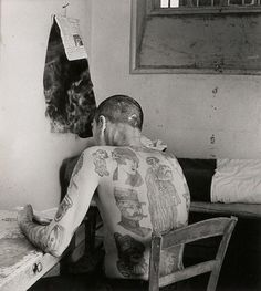 Robert Doisneau, Tattooed Man, 1952