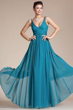 Elegant V-cut Evening Dress Prom Ball Gown (C00120805)