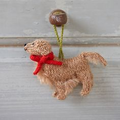 Knitted Golden Retriever Ornament