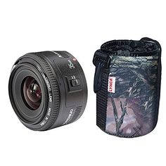Yongnuo YN35mm F2 35mm Wide-angle Large Aperture Fixed Auto Focus Lens  LYNCA Waterproof Lens Protect Bag For canon EF Mount EOS Cameras -- Want to know more, click on the image.