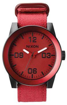 Nixon Watch | Nixon The Corporal Watch - Red Ano | Discover a Fantastic Range of Luxury Nixon Watches @ KJ Beckett!