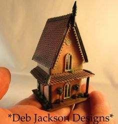 From DJD 1/144th scale furnished Gothic by DebJacksonDesigns