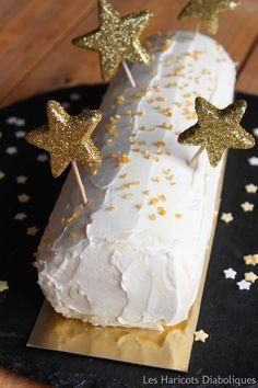 Bûche roulée citron mascarpone : testée et approuvée Noël 2014 avec glaçage ganache chocolat blanc