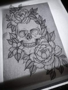New drawing ideas tattoo sketches thigh piece ideas Leg Tattoos, Flower Tattoos, Body Art Tattoos, Tattoo Thigh, Skull Thigh Tattoos, Thigh Piece Tattoos, Skull Rose Tattoos, Skull Sleeve Tattoos, Pretty Skull Tattoos