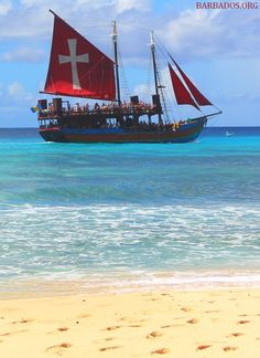 Go partying with the pirates off the coast of #Barbados :)