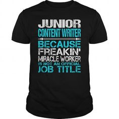Awesome Tee For Junior Content Writer T Shirts, Hoodie Sweatshirts