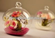 clear glass bud vase ,small round crystal flower vase MH-12781