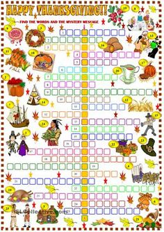 Thanksgiving: crossword puzzle