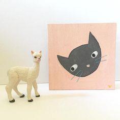 tiny original art cat painting illustration small 4 inches ©️tammie bennett Illustration Art Drawing, Art Drawings, Illustrations, Original Art, Original Paintings, Cat Art, Cute Cats, Cat Lovers, Doodles