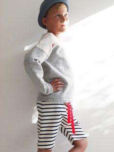 Shorts for boys by Yellow Bird, organic cotton.