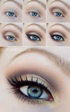 Crystalline on brow bone, chocolate kiss in soft crease, v and dark crease is hazelnut.  www.marykay.com/ambermunk