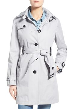 MICHAEL MICHAEL KORS Single Breasted Raincoat (Regular & Petite). #michaelmichaelkors #cloth #