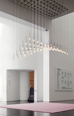 The alluring Algorithm pendant collection by Vibia. Diy Pendant Light, Pendant Light Fixtures, Pendant Lighting, Pendant Lamps, Custom Lighting, Lighting Design, Vintage Industrial Lighting, Restaurant Lighting, Bright Homes