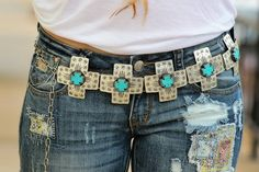 Silver Cross Concho Belt
