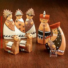 I have this Peruvian nativity set.wise men are perhaps tall. Meaning Of Christmas, Merry Christmas To All, All Things Christmas, Christmas Holidays, Christmas Decorations, Xmas, Christmas Nativity Set, Nativity Ornaments, Nativity Scenes
