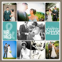 Wedding Scrapbook Pages | Project Life Wedding Scrapbook Page from Lisa Pate at DesignerDigitals