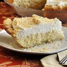 The Absolute Best Coconut Cream Pie - Rock Recipes -The Best Food & Photos from St. Just Desserts, Delicious Desserts, Yummy Food, Vegan Desserts, Healthy Food, Rock Recipes, Sweet Recipes, Pie Dessert, Dessert Recipes