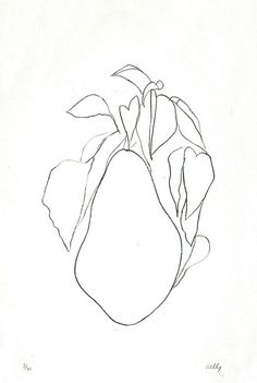 Ellsworth Kelly - Pear II (Poire II), 1965. From the Plant Lithographs 1964-66 series.      Lithograph