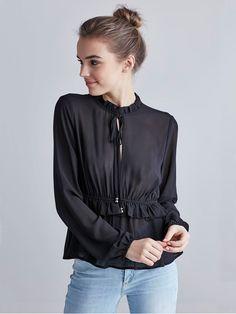 Harper blouse | | Black | BikBok | Worldwide
