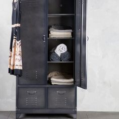 Lockerkast 2-deurs VT Wonen zwart | Musthaves verzendt gratis