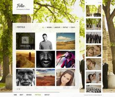 Folio Photography Template  via @designscrazed - I decided to create a photography theme this time around, Folio. It comes complete with 5 detailed psd pages which are 100% customizable. Click below on the thumbnails to see each page.