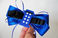 Doctor Who Inspired Hair Bow Tardis Hair Bow by theMeticulousWhim