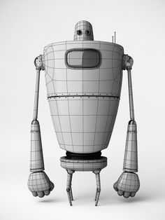 The Orange Robot by Riccardo Zema, via Behance