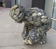 river stone sculpture
