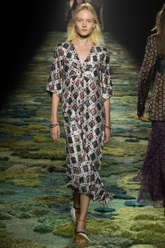 Dries Van Noten - Amazing bohemian print mix of paisey, floral, foulard, stripes, ditsy, geo and splicing.