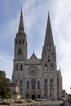 Chartres Cathedral, also known as the Cathedral of Our Lady of Chartres (French: Cathédrale Notre-Dame de Chartres), is a Roman Catholic church of the Latin Church located in Chartres, France, about 80 km (50 miles) southwest of Paris. The current cathedral, mostly constructed between 1194 and 1220, is the last of at least five which have occupied the site since the town became a bishopric in the 4th century. It is designated a World Heritage Site by UNESCO