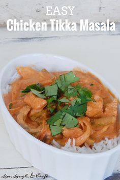 This is the lazy girl version of this delicious Indian dish. One of our favorite meals!