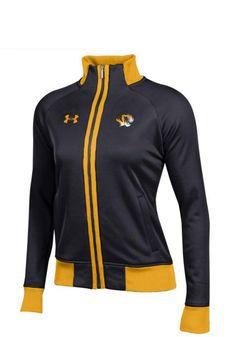 df6a5553c9ba5 Under Armour Missouri Tigers Juniors Black Triad Long Sleeve Track Jacket