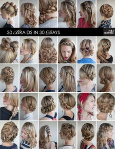 I'm super lazy to do anything with my hair (and not talented AT ALL) but some of these braids look so awesome I might try ;)  Hair Romance 30 Braids in 30 Days