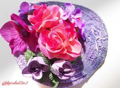 Fascinator Haarblüte *CHARLOTTE* Kopfschmuck von Lebenslust2in1 auf DaWanda.com