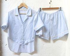 Cotton Striped Boyfriend Pajama Set