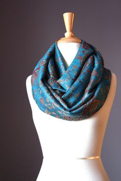 Hey, I found this really awesome Etsy listing at https://www.etsy.com/listing/112701787/pashmina-infinity-scarf-paisley-jacquard