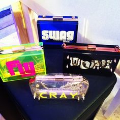 Big props to our very own homegrown bag brand KLutched at #tranoifemme #tranoi #ss14 #pfw #fashionweek
