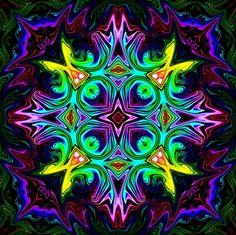 burst of color Mandala Art, Fractal Design, Fractal Art, Psy Art, Diamond Paint, Hippie Art, Cool Paintings, Psychedelic Art, Amazing Art