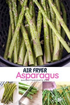 Make the most delicious air fryer asparagus to serve as a side dish for a busy weeknight meal, but yet sits beautifully on the table for a dinner party.   #airfryerasparagus #asparagusrecipe #airfryerrecipe #asparagusinairfryer #airfriedasparagus @Msavorythoughts Appetizer Recipes, Dinner Recipes, Drink Recipes, Appetizers, Weeknight Meals, Easy Meals, Crockpot Side Dishes, Air Fryer Healthy, Asparagus Recipe
