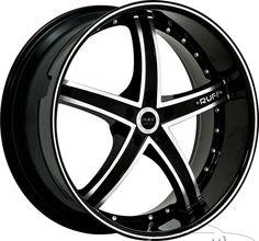 20x8 5 Ruff R953 5x112 38mm Gloss Black Machined Rims Wheels Inch