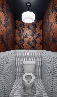 Space Saving Toilet Design for Small Bathroom. Modern Bathroom Designs For Small Spaces Bathroom Design Small, Bathroom Interior Design, Modern Interior Design, Modern Bathroom, Interior Decorating, Bath Design, Bathroom Designs, Small Bathroom Wallpaper, Asian Interior